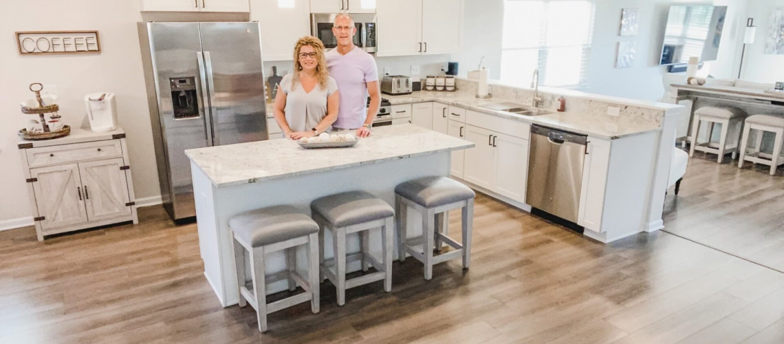 Scentcerely Yours business owners, Rob and Susi Brucato, found their low-maintenance, 'right-size' home at Shodeen Homes' Elburn Station.